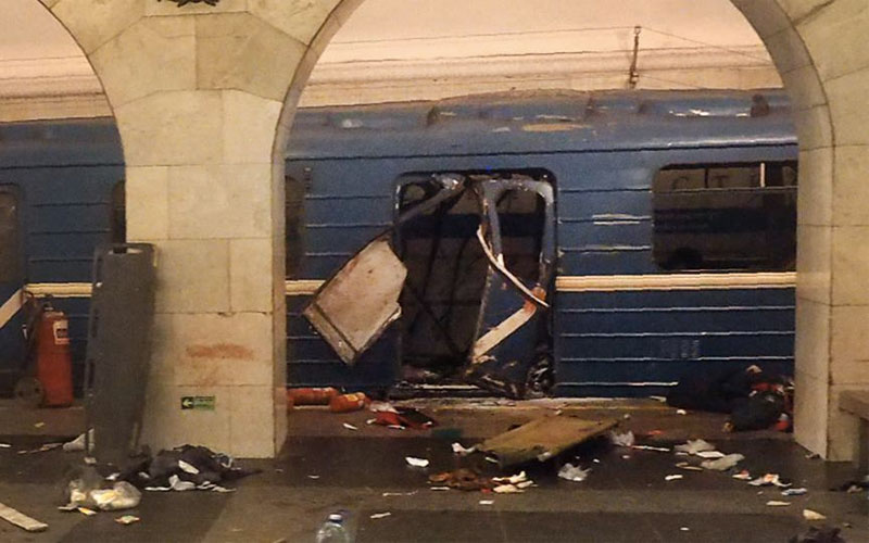 St Petersburg Metro explosion: 9 confirmed killed in ...