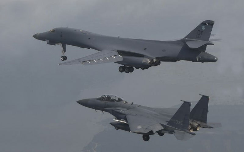 US flies bombers near North Korea in show of force after missile test