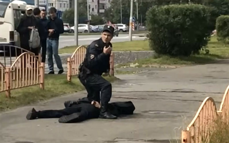 ISIS claims responsibility after Russian knifeman stabs eight before being shot dead by police