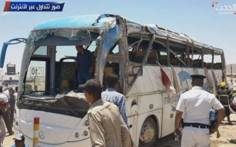 Children among dozens killed as Islamic terrorists ambush convoy of Egyptian Coptic Christians