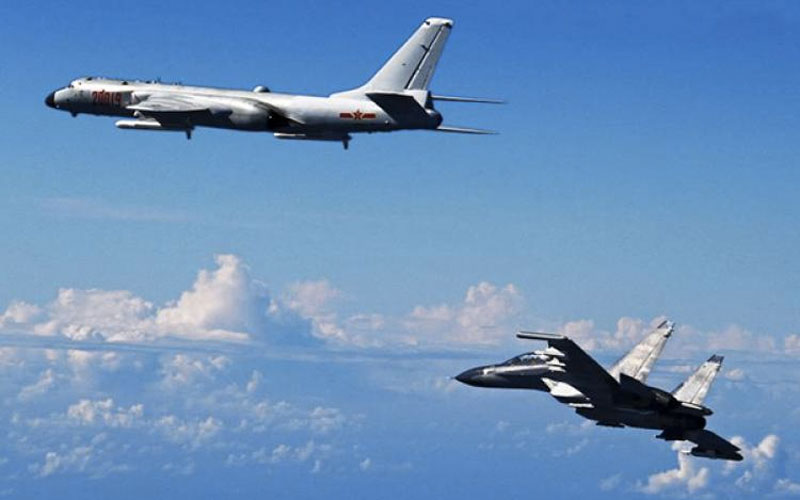 Chinese bombers practicing nuclear bombing runs on Guam