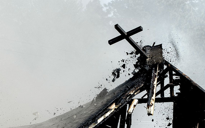 Germany Two Hundred Churches Damaged And Christian Symbols