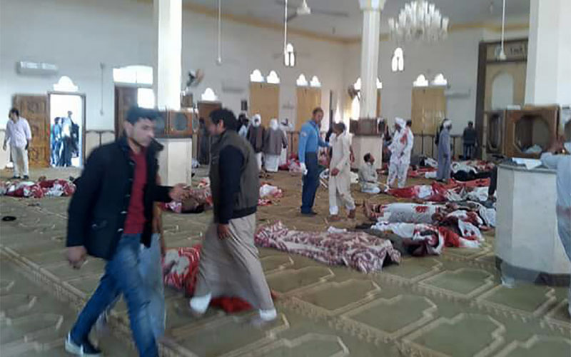 Egypt mosque attack: Bomb and gun assault in North Sinai kills at least 235 people