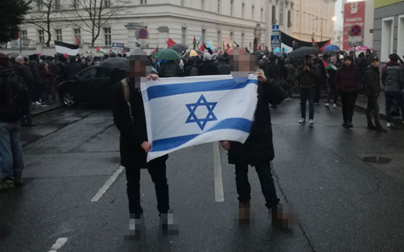 Vienna Police Charge 3 Men For Waving Israeli Flag At Rally