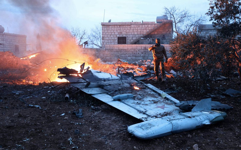 Syrian Islamists down Russian warplane